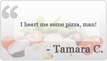 I heart me some pizza, man!